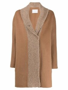 Fabiana Filippi knitted panel coat - NEUTRALS