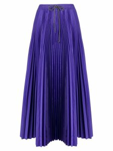 Tela drawstring flared pleated skirt - Purple