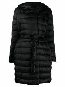 Max Mara puffer belted coat - Black