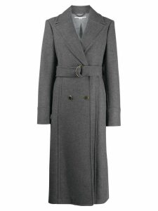 Stella McCartney double-breasted belted coat - Grey