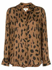 L'agence animal print shirt - Brown