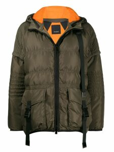 Pinko padded cropped jacket - Green