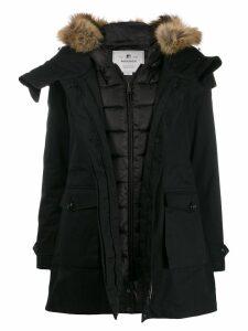Woolrich hooded padded coat - Black