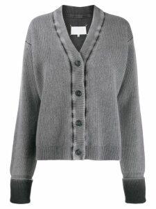 Maison Margiela faded boxy cardigan - Grey