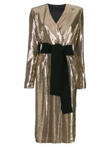 P.A.R.O.S.H. sequin cocktail dress - GOLD