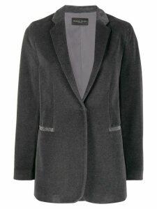 Fabiana Filippi concealed front blazer - Grey