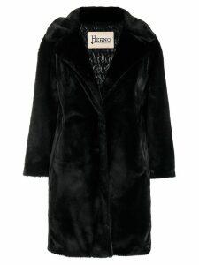 Herno faux fur coat - Black
