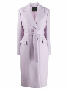 Pinko belted long coat - Purple