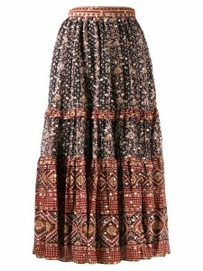 Ulla Johnson pleated graphic skirt - Black