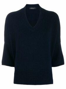 Aragona dolman-sleeve jumper - Blue