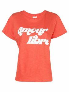 Cinq A Sept Amour Libre print T-shirt - Orange