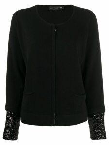 Fabiana Filippi sequin-embellished cashmere cardigan - Black