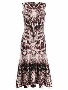 Alexander McQueen sleeveless jacquard dress - Pink