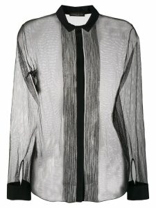 Fabiana Filippi long-sleeve sheer blouse - Black
