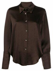 Nanushka Mandine satin shirt - Brown