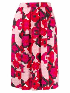 Marni pixel print pleated skirt - Pink