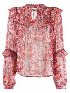 Cecilie Copenhagen Charlize floral print blouse - Red