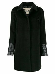 Herno padded details midi coat - Black