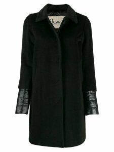 Herno padded details midi coat - Black