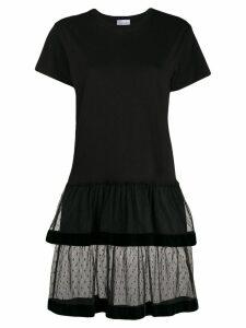 Red Valentino tulle skirt T-shirt dress - Black