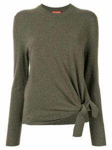 Altuzarra cashmere side knot jumper - Green
