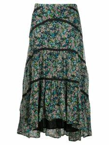 Cecilie Copenhagen Gaby floral print midi skirt - Blue