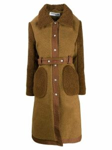 Courrèges belted coat - Brown