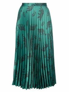 HVN Tracy pleated skirt - Green