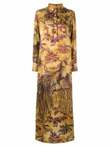 F.R.S For Restless Sleepers long botanical print shirt dress - Yellow