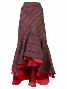 Silvia Tcherassi Dallas frill skirt - Grey