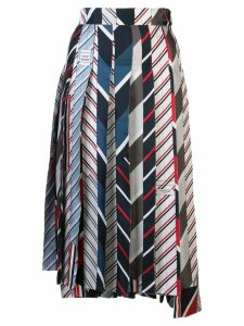 Thom Browne patchwork pleated skirt - Multicolour