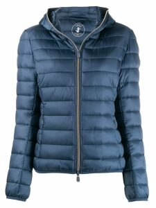 Save The Duck cropped padded jacket - Blue