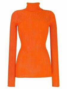 Victoria Victoria Beckham slim fit turtleneck top - Orange