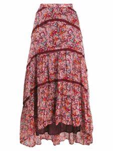 Cecilie Copenhagen Gaby floral print midi skirt - Red