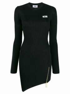 Gcds metallic knit mini dress - Black