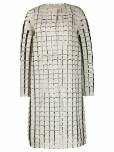 Bottega Veneta chainmail effect coat - White