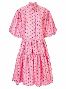 Cecilie Bahnsen oversized tiered dress - PINK