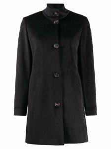 RRD textured high neck coat - Black