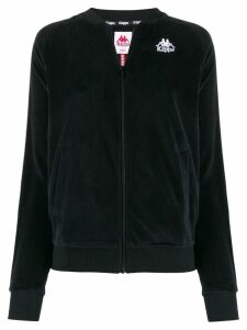 Kappa contrast logo bomber jacket - Black