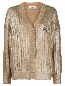 Gcds metallic cable knit cardigan - Gold
