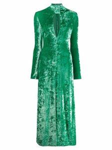 Attico buckled neck dress - Green