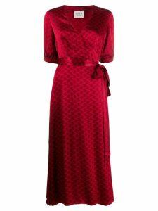 Cecilie Copenhagen Belle printed wrap dress - Red