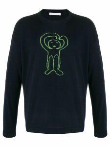 Société Anonyme knitted logo jumper - Blue