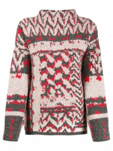 Lala Berlin jacquard print roll-neck sweater - White