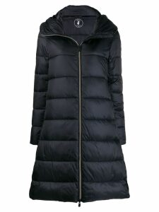 Save The Duck padded zip-front coat - Black