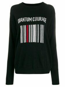 Quantum Courage barcode logo jumper - Black