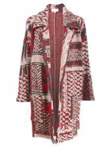 Lala Berlin jacquard print Keena coat - White