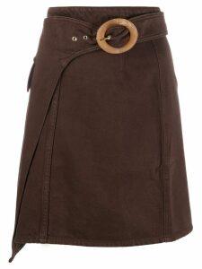 Nanushka Yeva wrap mini skirt - Brown
