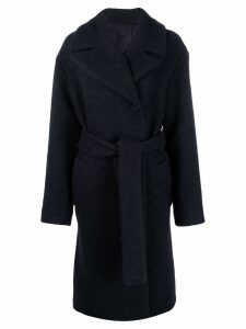 Victoria Victoria Beckham boucle belted coat - Blue