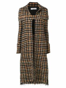 Victoria Beckham long tweed coat - Black